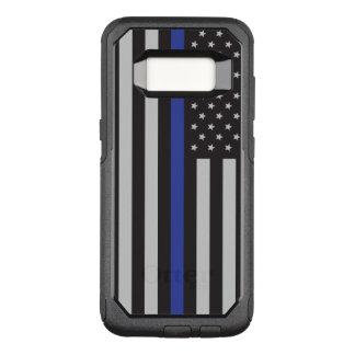 Stützen Sie den Polizei-dünnen Blue OtterBox Commuter Samsung Galaxy S8 Hülle