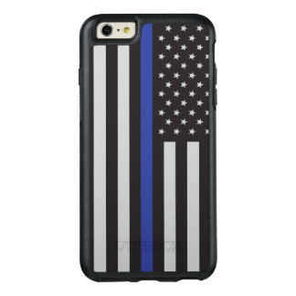 Stützen Sie den Polizei-dünnen Blue OtterBox iPhone 6/6s Plus Hülle