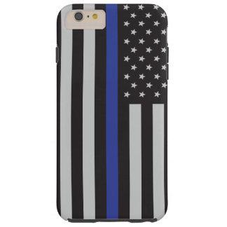 Stützen Sie den Polizei-dünnen Blue Tough iPhone 6 Plus Hülle