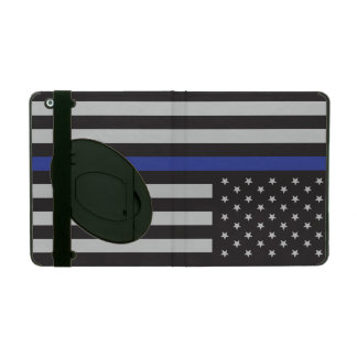 Stützen Sie die Polizei-dünne Blue iPad Etui