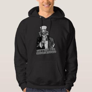 Stützen Sie die Untergrundmusikszenen-Typen oder Kapuzensweater