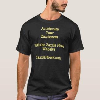 Stützen Sie die Zazzle How2 Website T-Shirt