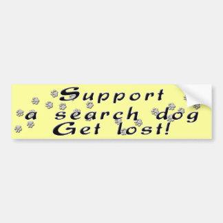 Stützen Sie einen SuchhundeAutoaufkleber Autoaufkleber