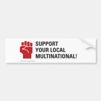 Stützen Sie Ihr lokales multinationales Autoaufkleber