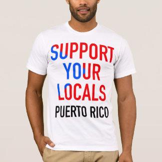 Stützen Sie Ihre Einheimischen DJs Puerto Rico: T-Shirt
