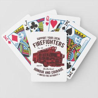 Stützen Sie Ihre lokalen Feuerwehrmänner Bicycle Spielkarten