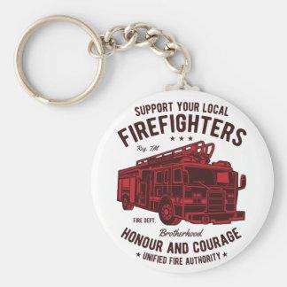 Stützen Sie Ihre lokalen Feuerwehrmänner Schlüsselanhänger