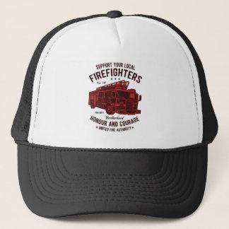 Stützen Sie Ihre lokalen Feuerwehrmänner Truckerkappe