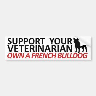 Stützen Sie Ihren Tierarzt besitzen einen Frenchie Autoaufkleber