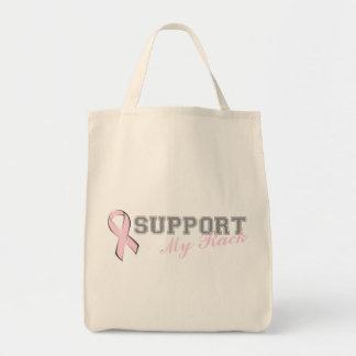 Stützen Sie meine Gestell-Rosa-Band-Tasche Einkaufstasche