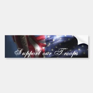 Stützen Sie unsere Troops-U.S.A. Flagge Autoaufkleber