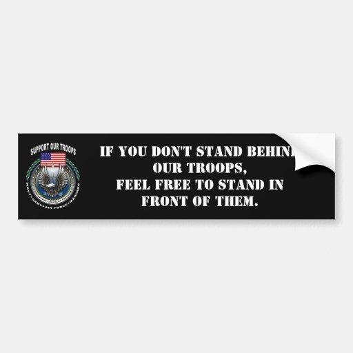Stützen Sie unsere Truppen Autoaufkleber