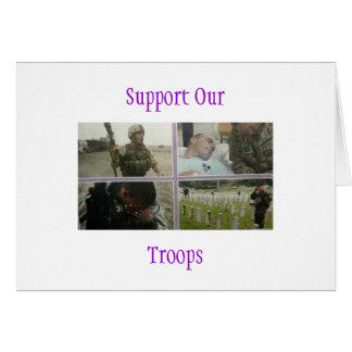 Stützen Sie unsere Truppen Karte