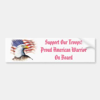 Stützen Sie unseren Truppe-stolzen amerikanischen Autoaufkleber