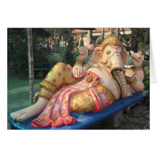 Stützende Ganesha Statue im Chiang Mai, Thailand Karte