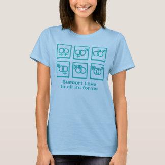 StützLiebe und -geschlecht T-Shirt