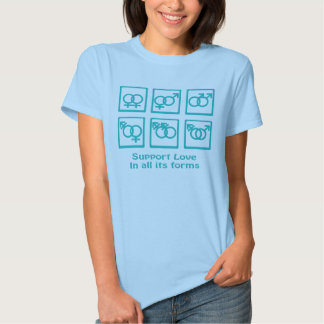StützLiebe und -geschlecht T-Shirts