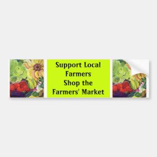 Stützlokale Bauern, kaufen der Markt der Bauern Autoaufkleber