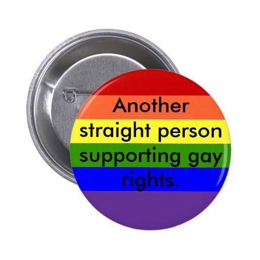 StützRechte der Homosexuellen Anstecknadel