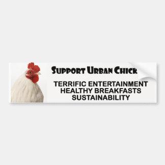 Stützstädtische Hühner Autoaufkleber