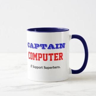 StützSuperheld-Witz Kapitän-Computer IT Tasse