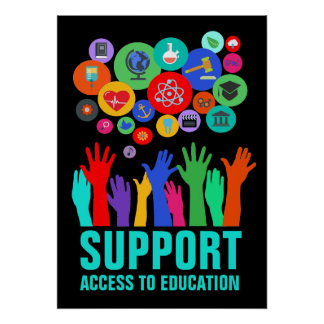 Stützzugang zur Bildungs-Bildungs-Reform 20X28 Poster