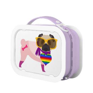 Stylin Mops-Hunderegenbogen Brotdose