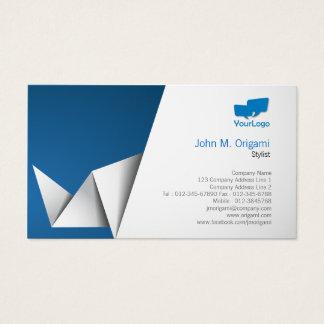 Stylist-Karte Origami Falten Visitenkarte