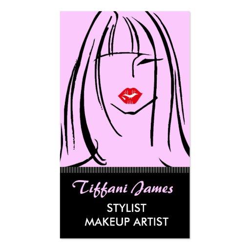 Stylist-/Make-upkünstler-Geschäfts-Karten Visitenkarten Vorlage