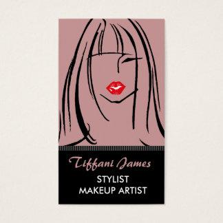 Stylist-/Make-upkünstler-Geschäfts-Karten Visitenkarten