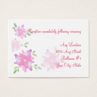 Stylized Azaleen-rosa Hochzeits-Empfangs-Karten Visitenkarte