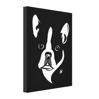 Stylized Boston-Terrier-Leinwand-Drucke Leinwanddruck
