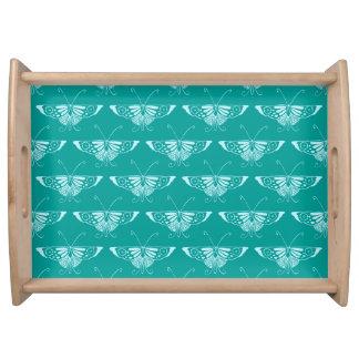 Stylized Dekoschmetterling - Türkis und Aqua Tablett