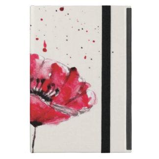 Stylized malte Watercolormohnblumen-Blume iPad Mini Hüllen