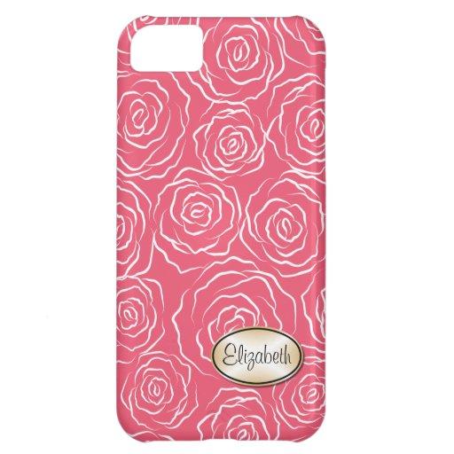 Stylized Rosen-Garten-Muster | iPhone 5 Fallrosa Hüllen Für iPhone 5C