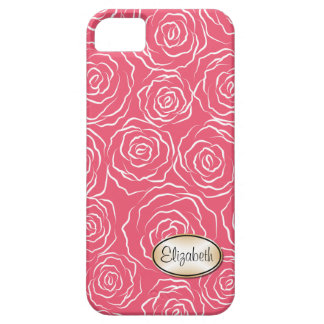 Stylized Rosen-Garten-Muster iPhone 5 Fallrosa iPhone 5 Etuis