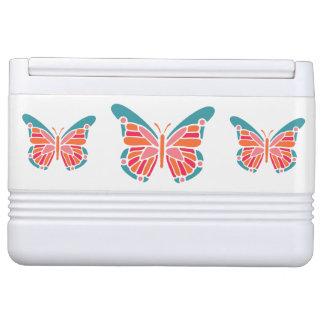 Stylized Schmetterlings-individueller Name cooler Kühlbox