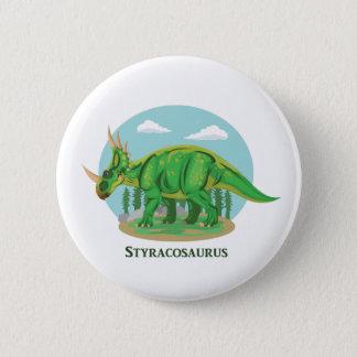 Styracosaurus Runder Button 5,7 Cm