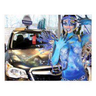 Subaru Postkarte Space Girl Bodypaint