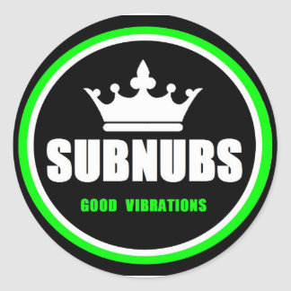 SubNubs_GoodVibrations Runder Aufkleber