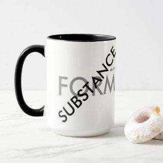 """""""Substanz über Form """" Tasse"""