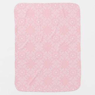 Subtil erblassen Sie - rosa geometrisches Blumen Babydecke