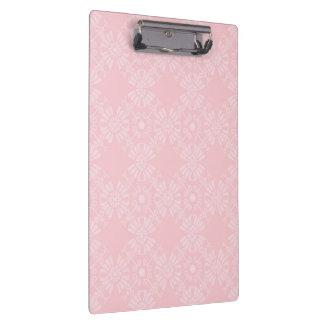 Subtil erblassen Sie - rosa geometrisches Blumen Klemmbrett