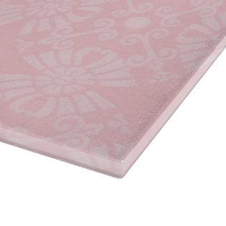 Subtil erblassen Sie - rosa geometrisches Blumen Schneidebrett
