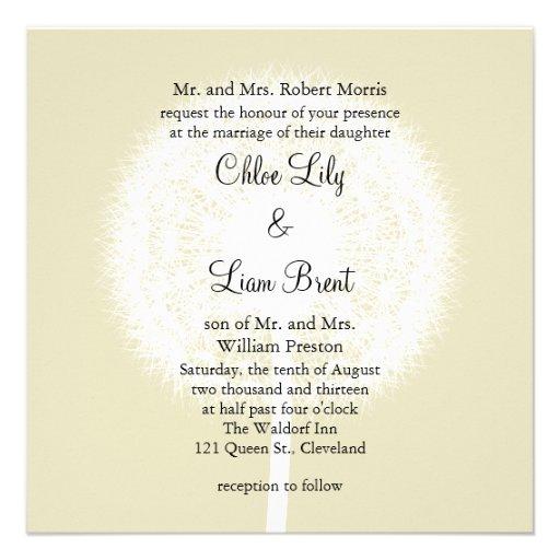 Subtile Eleganz-Hochzeits-Einladung