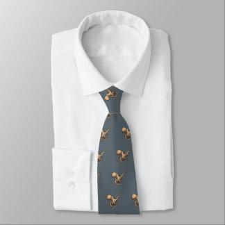 Subtile Gitarren-Krake Krawatte