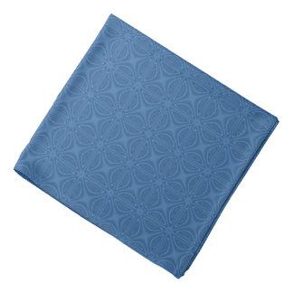 Subtiles blaues kreuzweises geometrisches Muster Kopftuch