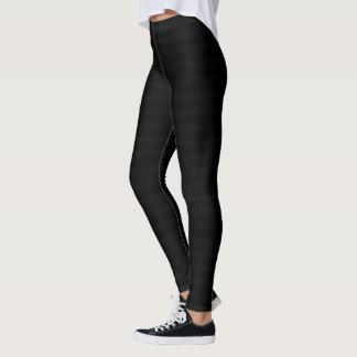 Subtiles Streifen-Schwarzes Leggings