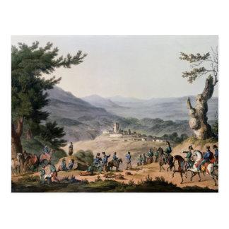 Subugal auf dem FlussCoa, graviert von C. Turner Postkarte