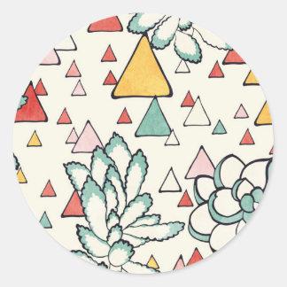 Succulent-und Dreiecke Aufkleber